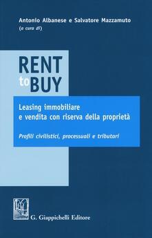 Librisulladiversita.it Rent to buy, leasing immobiliare e vendita con riserva della proprietà. Profili civilistici, processuali e tributari Image