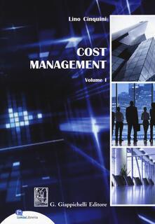 Milanospringparade.it Cost Management. Vol. 1 Image
