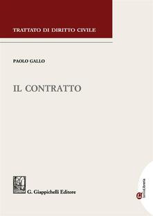 Il contratto - Paolo Gallo - copertina