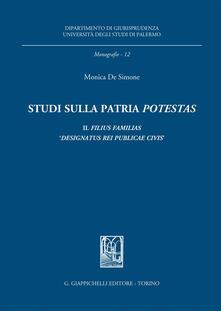 Parcoarenas.it Studi sulla patria «potestas». Il filius familias «designatus rei publicae civis» Image