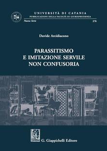 Parassitismo e imitazione servile non confusoria.pdf