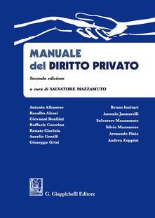Manuale del diritto privato - copertina