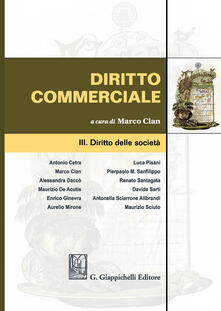 Diritto commerciale. Vol. 3: Diritto delle società. - copertina