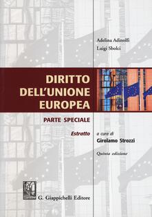 Daddyswing.es Diritto dell'Unione Europea. Parte speciale. Estratto Image