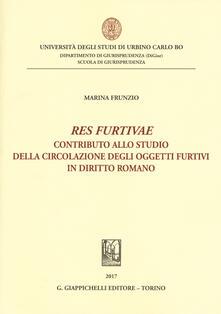 Squillogame.it «Res furtivae». Contributo allo studio della circolazione degli oggetti furtivi in diritto romano Image