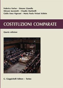 Costituzioni comparate - copertina