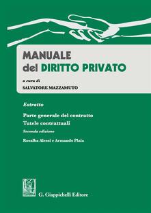 Nordestcaffeisola.it Manuale del diritto privato. Estratto parte generale del contratto. Tutele contrattuali Image