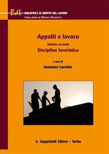 Grandtoureventi.it Appalti e lavoro. Vol. 2: Disciplina lavoristica. Image