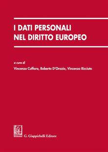 Camfeed.it I dati personali nel diritto europeo Image