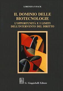 Promoartpalermo.it Il dominio delle biotecnologie. L'opportunità e i limiti dell'intervento del diritto Image
