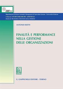 Listadelpopolo.it Finalità e performance nella gestione delle organizzazioni Image