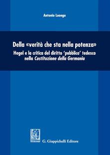 Warholgenova.it Della «verità che sta nella potenza». Hegel e la critica del diritto «pubblico» tedesco nella Costituzione della Germania Image