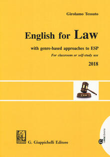 English for law. With genre-based approaches to ESP. For classroom or self-study use 2018.pdf