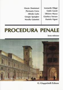 Procedura penale - copertina
