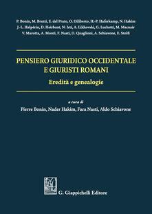 Antondemarirreguera.es Pensiero giuridico occidentale e giuristi romani. Eredità e genealogie Image