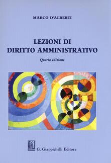 Lezioni di diritto amministrativo - Marco D'Alberti - copertina