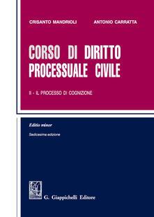 Cocktaillab.it Corso di diritto processuale civile. Ediz. minore. Vol. 2: Il processo di cognizione. Image