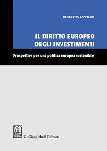 Promoartpalermo.it Il diritto europeo degli investimenti. Prospettive per una politica europea sostenibile Image
