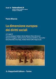 Camfeed.it La dimensione europea dei diritti sociali Image