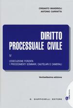 Diritto processuale civile. Vol. 4: L'esecuzione forzata, i procedimenti sommari, cautelari e camerali.