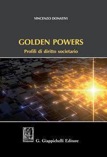 Winniearcher.com Golden powers. Profili di diritto societario Image