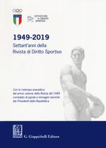 1949-2019. Settant'anni della Rivista di diritto sportivo