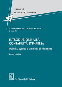 Libro Introduzione alla contabilità d'impresa. Obiettivi, oggetto e strumenti di rilevazione