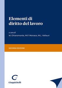 Libro Elementi di diritto del lavoro