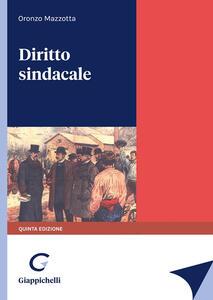 Libro Diritto sindacale Oronzo Mazzotta
