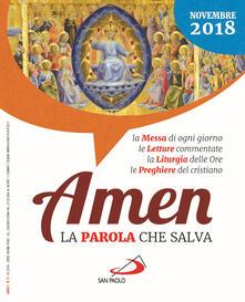 Grandtoureventi.it Amen. La parola che salva. Novembre 2018 (2018) Image