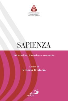 Camfeed.it Sapienza. Introduzione, traduzione e commento Image