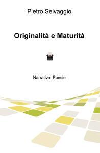 Originalità e maturità - Pietro Selvaggio - copertina