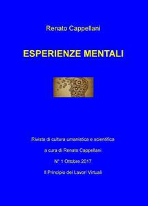 Esperienze mentali. Rivista di cultura umanistica e scientifica (2017). Vol. 1: principio dei lavori virtuali, Il. - copertina