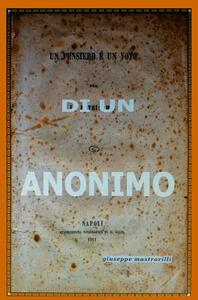 Di un anonimo - Giuseppe Mastrorilli - copertina