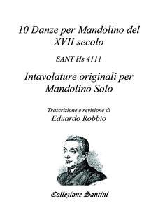 10 danze per mandolino del XVII secolo - Eduardo Robbio - copertina