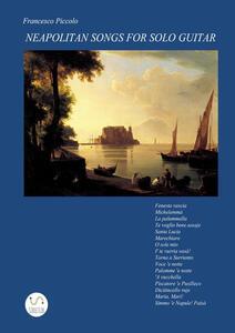 Neapolitan songs for solo guitar - Francesco Piccolo - copertina