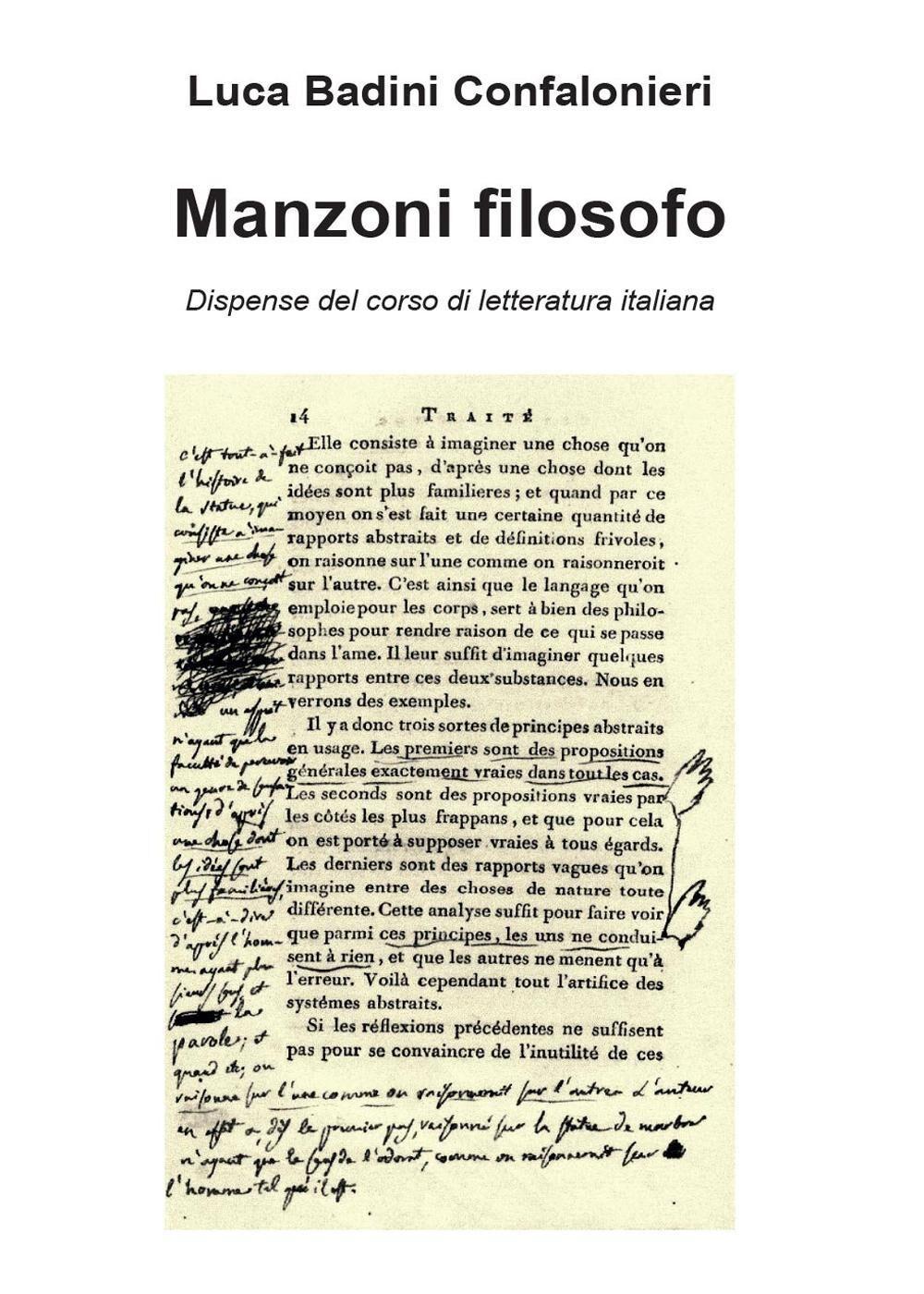 Manzoni filosofo. Dispense del corso di letteratura italiana