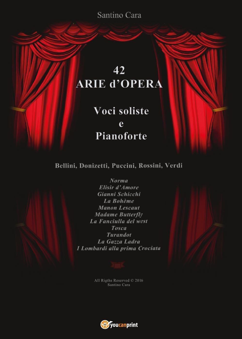 42 arie d'opera per voci soliste e pianoforte