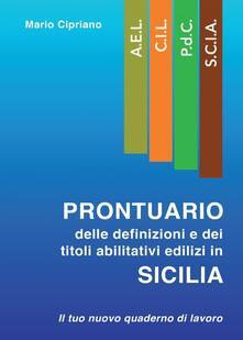 Ristorantezintonio.it Prontuario delle definizioni e dei titoli abilitativi edilizi in Sicilia Image