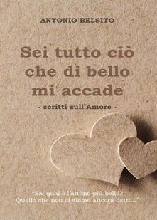 Sei tutto ciò che di bello mi accade - Antonio Belsito - copertina
