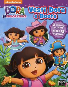 Camfeed.it Vesti Dora e Boots. Dora l'esploratrice. Con adesivi. Ediz. a colori Image
