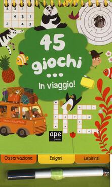 Warholgenova.it 45 giochi in viaggio. Con gadget. Ediz. a spirale Image