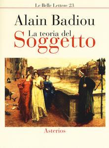 La teoria del soggetto - Alain Badiou - copertina