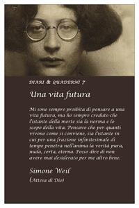 Cartoleria Diario 2022, Simone Weil. Una vita futura Asterios