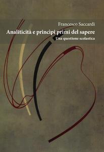Analiticità e principi primi del sapere. Una questione scolastica