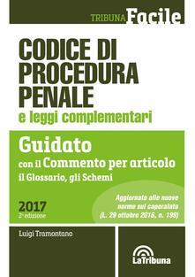 Codice di procedura penale e leggi complementari. Guidato con il commento per articolo, il glossario, gli schemi.pdf