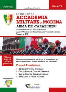 Concorso Accademia Militare di Modena. Arma Dei Carabinieri. Prova di preselezione.pdf