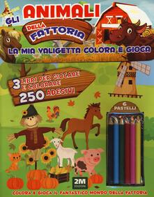 Camfeed.it Gli animali della fattoria. Trendy model. La mia valigetta colora e gioca. Con adesivi. Con gadget Image