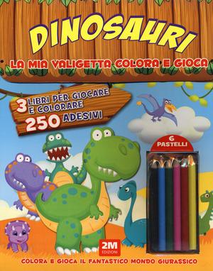 Dinosauri. Trendy model. La mia valigetta colora e gioca. Con adesivi. Con gadget