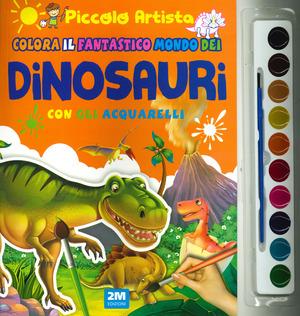 Colora il magico mondo dei dinosauri con gli acquarelli. Piccolo artista. Ediz. a colori. Con gadget